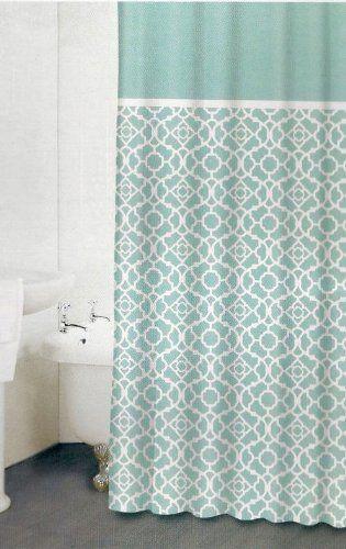 aqua lattice shower curtain shower curtains pinterest
