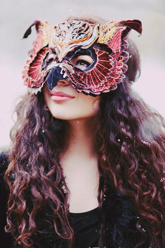 Gorgeous Mask.  VELVET OWL MASK by TheseWoods on Etsy, $389.00