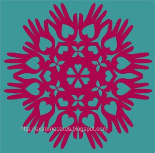 heart in hand snowflake | Templates | Pinterest