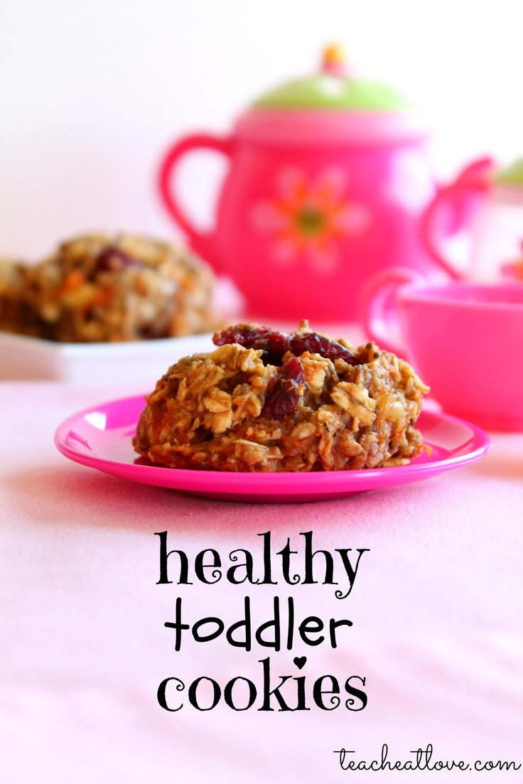 "Healthy Toddler ""Cookies"" (makes 12): 2 really ripe bananas 3 ..."