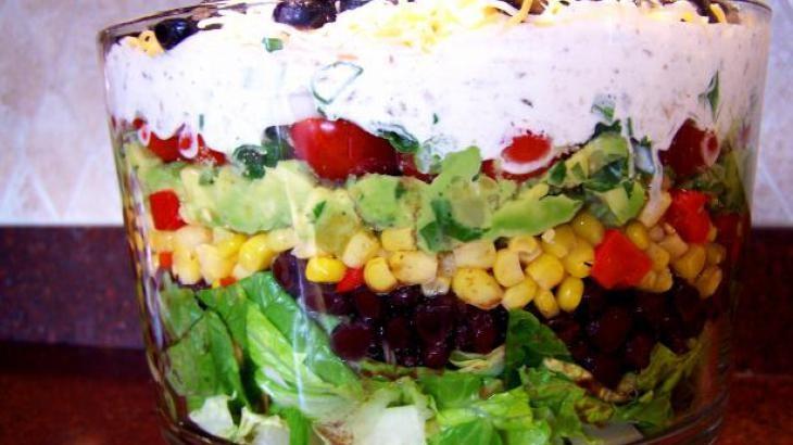 Tex Mex 7 Layer Salad | Favorite Recipes | Pinterest