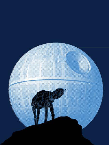 Full moon howling Star Wars Disney