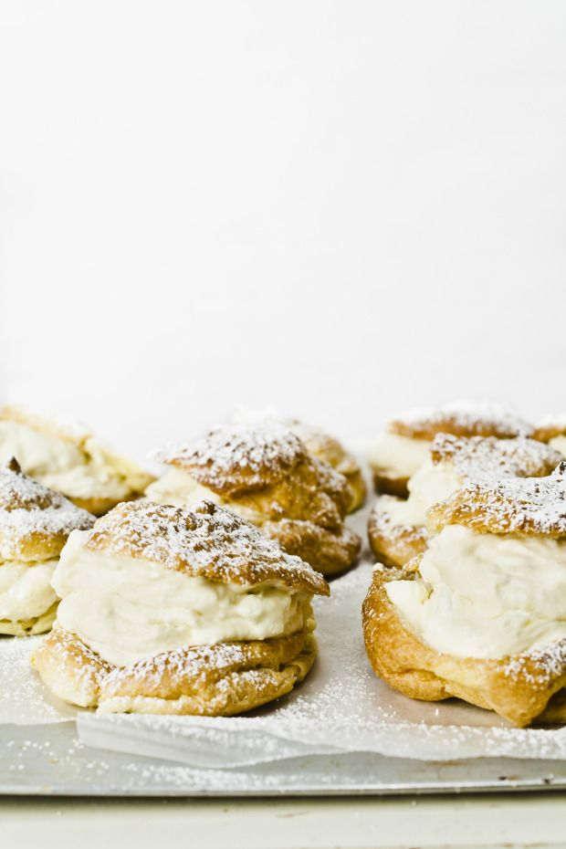 Saint Joseph's Day Cream Puffs (choux pastry filled with vanilla ...
