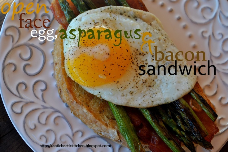 Open-Faced Egg, Bacon, And Watercress Sandwich Recipe ...