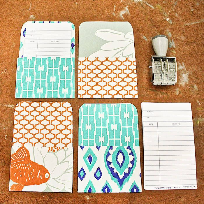 Library Book Card Pockets : Whimseybox : Boligindretning : Pinterest