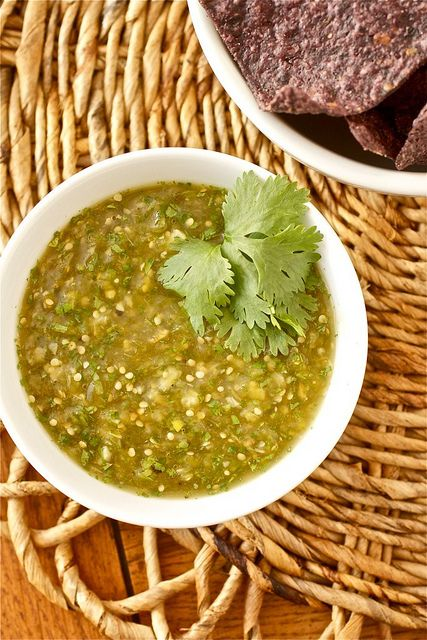 Roasted Tomatillo Salsa (Salsa Verde) | Recipe