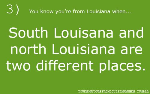 And you know that the line just south of Alexandria splits it.    SO VERY TRUE