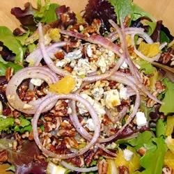 Orange, Walnut, Gorgonzola and Mixed Greens Salad with Fresh Citrus ...