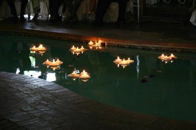 Floating Candles In The Pool Apparently Im Supposed To Plan My Wedd