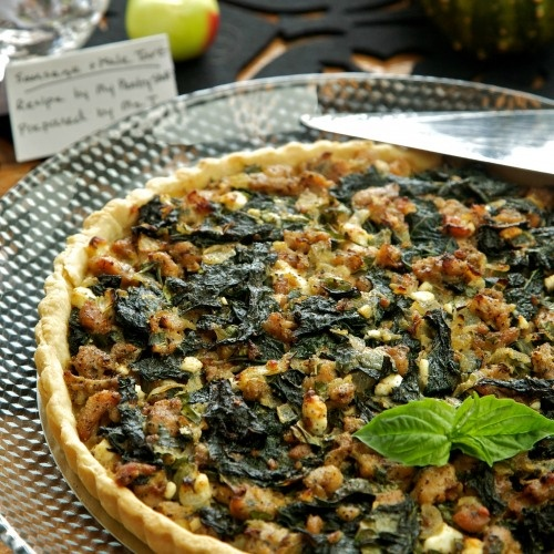 sausage and kale tart | Cravings | Pinterest