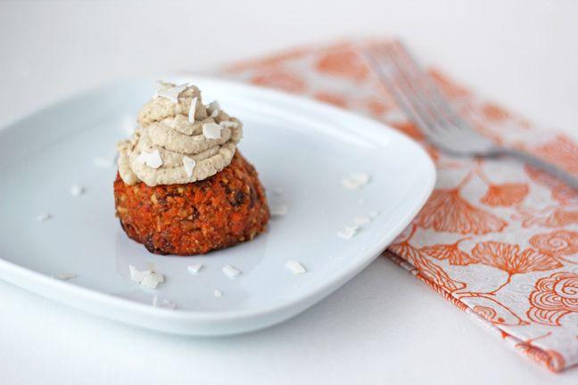 For the Love of Food: Raw Carrot Cake Cupcakes. no sugar, no flour, no ...