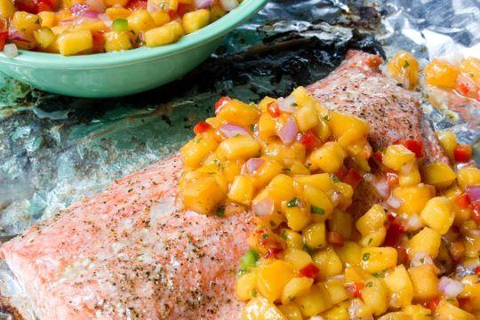 peach salsa will be perfect for surplus Peach Farm peaches.