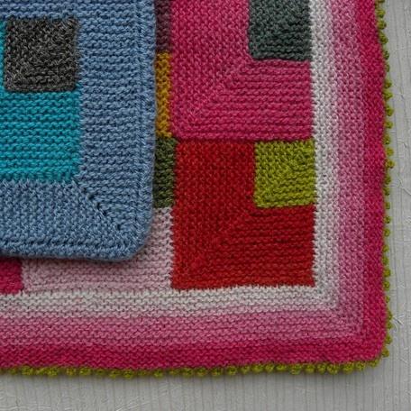 Modular Knitting Patterns : Ruth Sorensen Carl and Carla Modular Baby Blanket Knitting Pattern