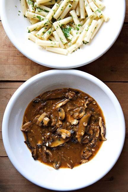 wild mushrooms recipes dishmaps ragout of venison with wild mushrooms ...