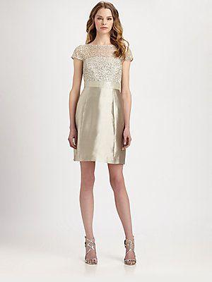 Kay Unger Cap Sleeve Printed Dress