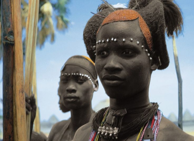 Africa | An image from Leni Riefenstahl's Africa publication coming from the chapter dedicated to the Shilluk people ~ Nilotic people of Southern Sudan
