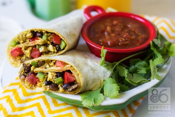 Scrambled Tofu Burrito (tastes like the real thing!) #vegan # ...