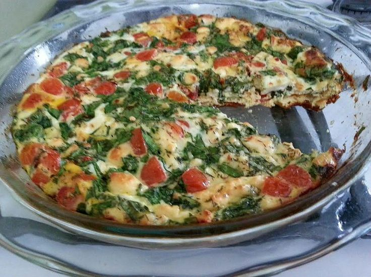 Greek Frittata Done | South Beach Phase 1 | Pinterest