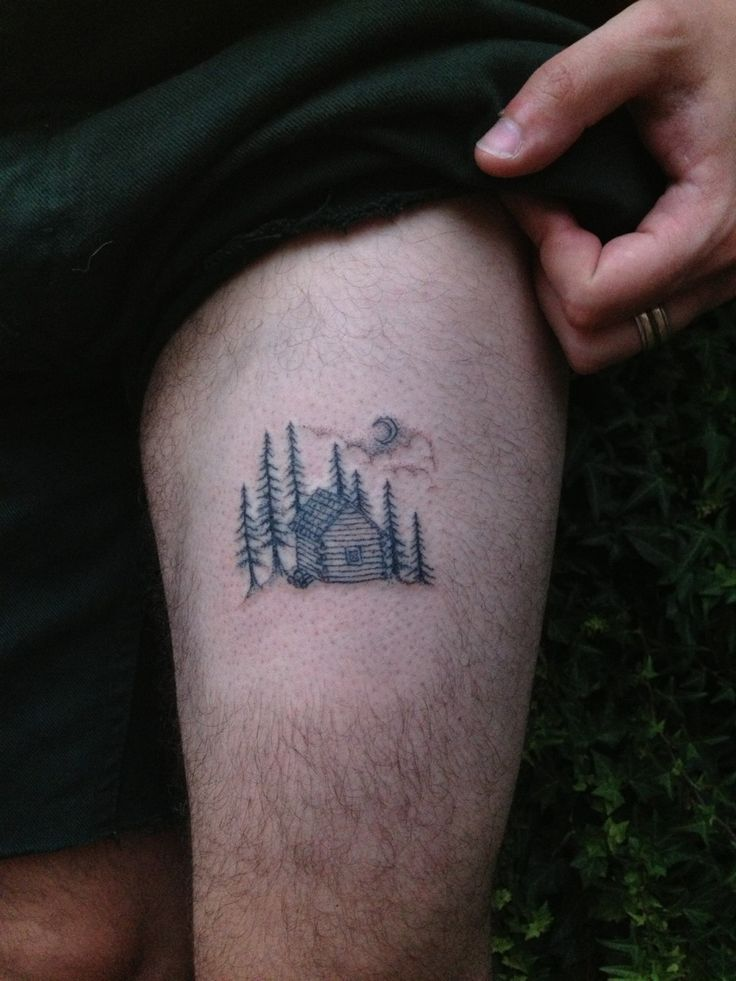 mitzi—may:  -moonshine-:  magpiefeed:  Hand poked log cabin for Ollie. By MagpieFeed