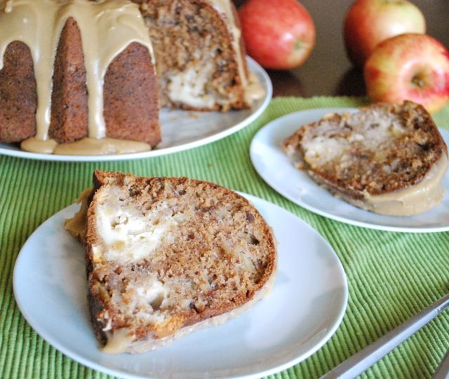 Apple-Cream Cheese Bundt Cake Recipe — Dishmaps
