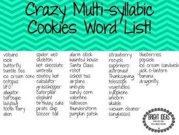 Similiar Multisyllabic Words Keywords