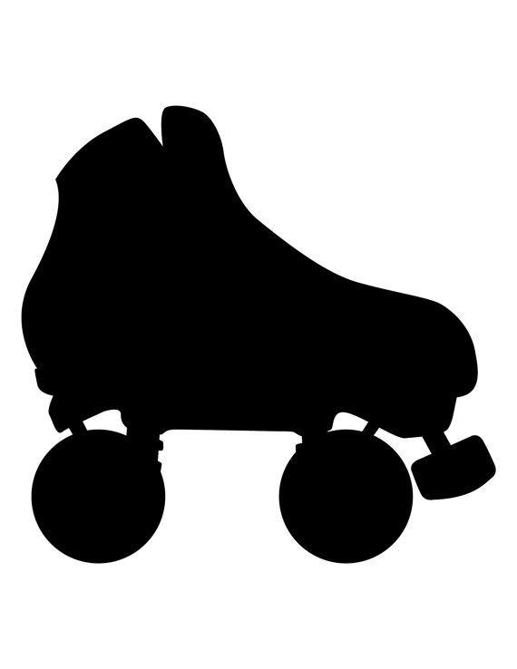 Quad Roller Skate Clip Art roller skate silhouette for pinterest