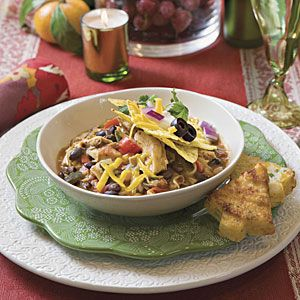 15 Hearty Chili Recipes | Smoky Chicken Chili | SouthernLiving.com