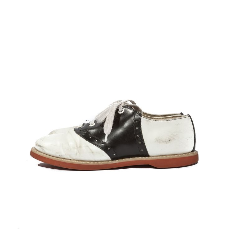 Vintage Saddle Oxford Shoes, Black and White