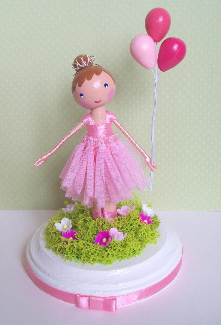 Ballerina cake topper with balloons | pretty ballerinas ...