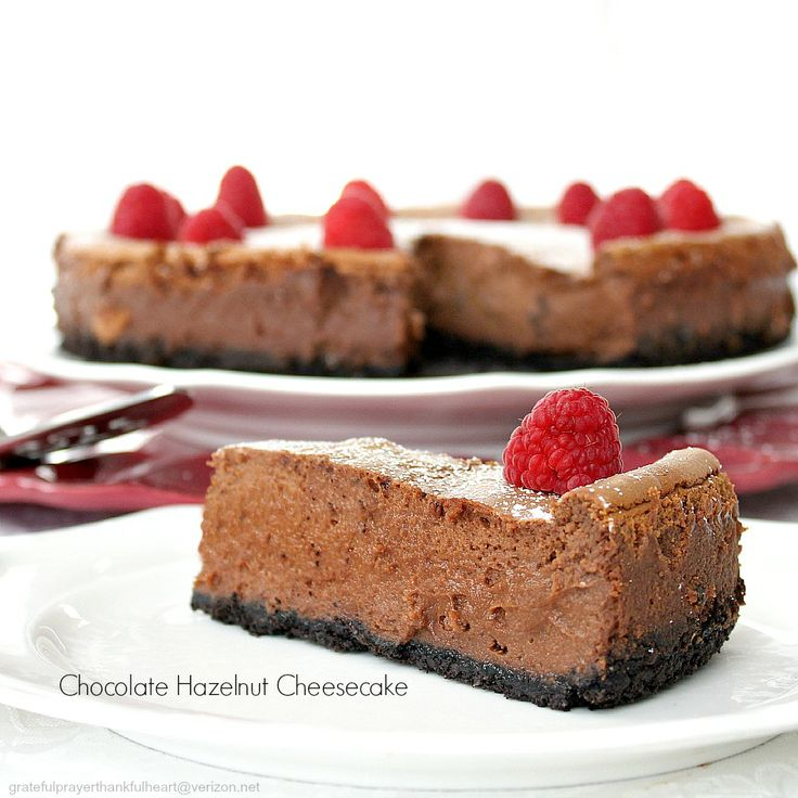 Chocolate Hazelnut Cheesecake | Sweet treats or done in the oven! | P ...