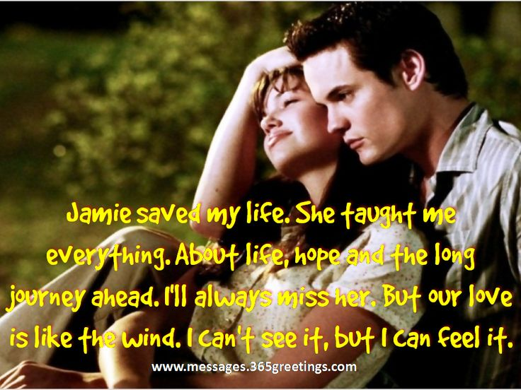love quote from a walk to remember