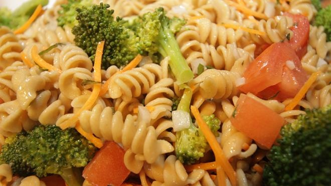 Vegetable and Pasta Salad - This is one of the new menu dishes that is ...
