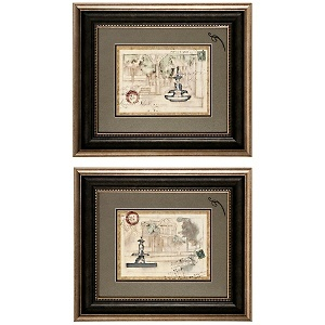 "Postcard Villa I/II Set of 2 Framed Prints 23"" X 20"" at HSN.com."