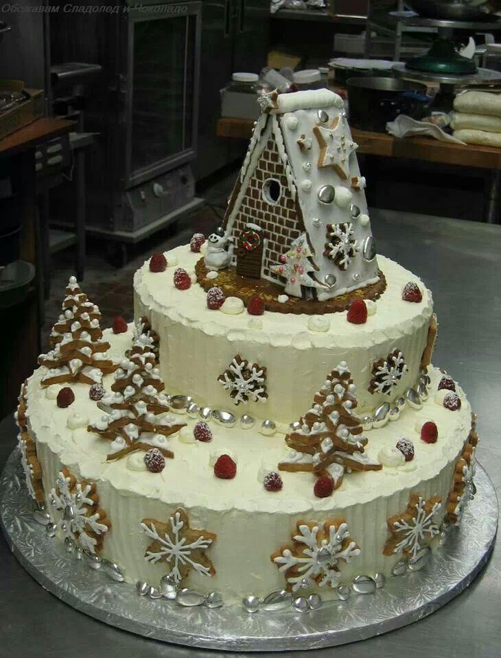 Beautiful Christmas Cake Cute Cake Style Pinterest