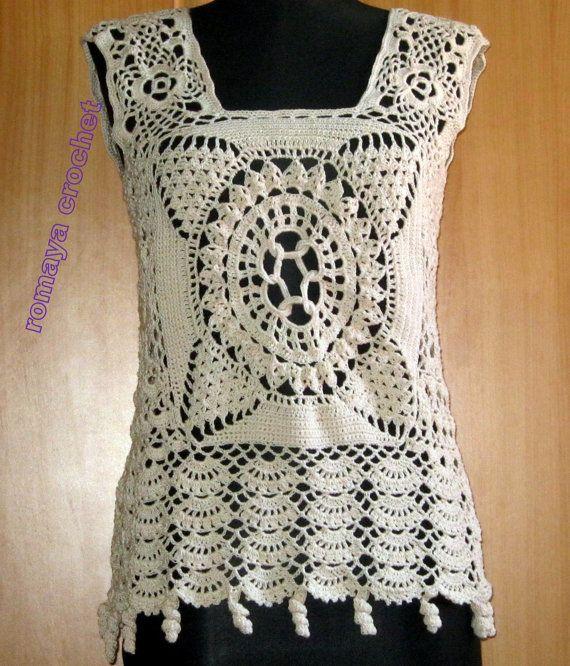 Crochet New Design : New+design+crochet+lace+blousevintage+inspiration+by+romayacrochet,+$ ...