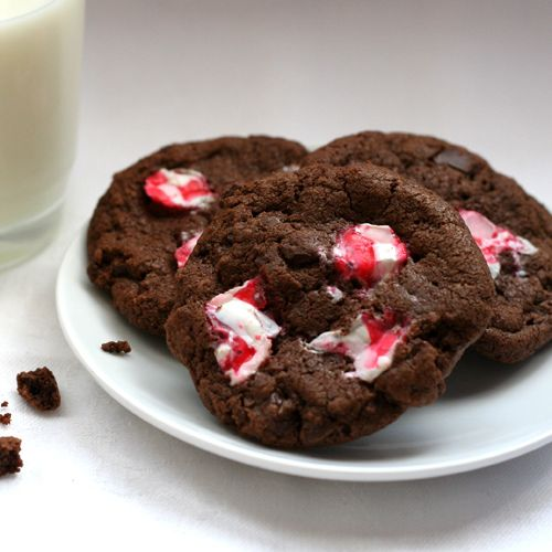 Chocolate Candy Cane Cookies | Things to eat and drink | Pinterest
