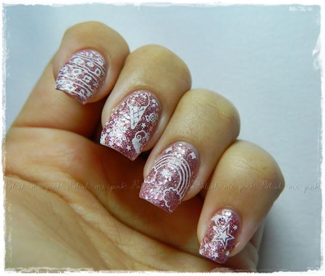 Material Girl - China Glaze & Konad Charming Nails Q1