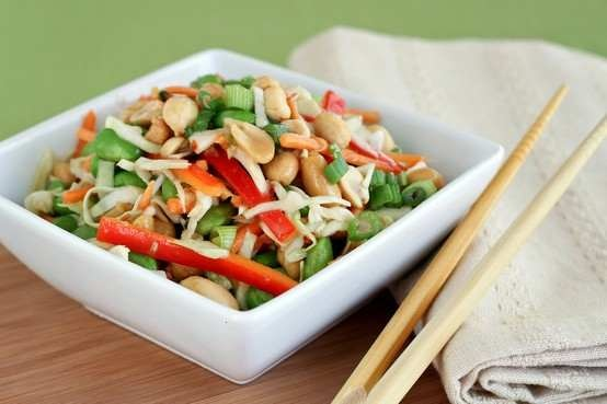 asian slaw with ginger peanut dressing | Want to try this | Pinterest