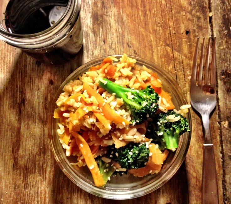 Broccoli-carrot-ginger rice bowls | Yummy Food | Pinterest