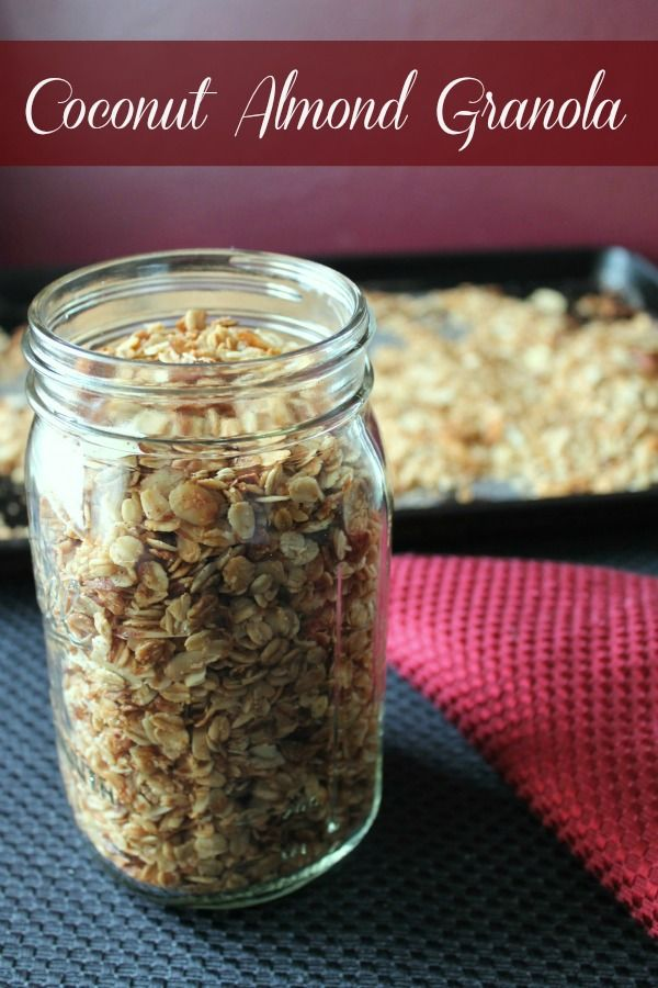 Coconut almond granola. Delicious made with pure maple syrup or honey