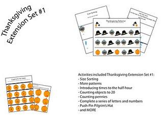 Free thanksgiving set printable