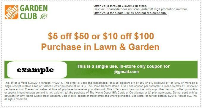 Italian gardens coupon - Recent Wholesale