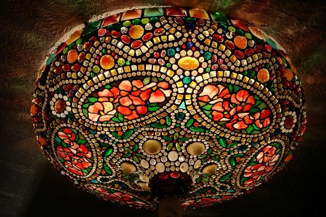 vintage stained glass lighting fixture lighting pinterest. Black Bedroom Furniture Sets. Home Design Ideas