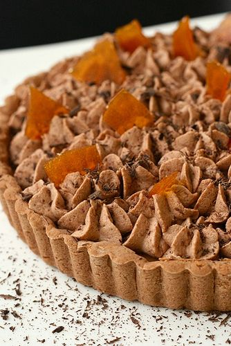 Chocolate Mousse and Caramel Tart... I'll try to make this GF, allergy ...