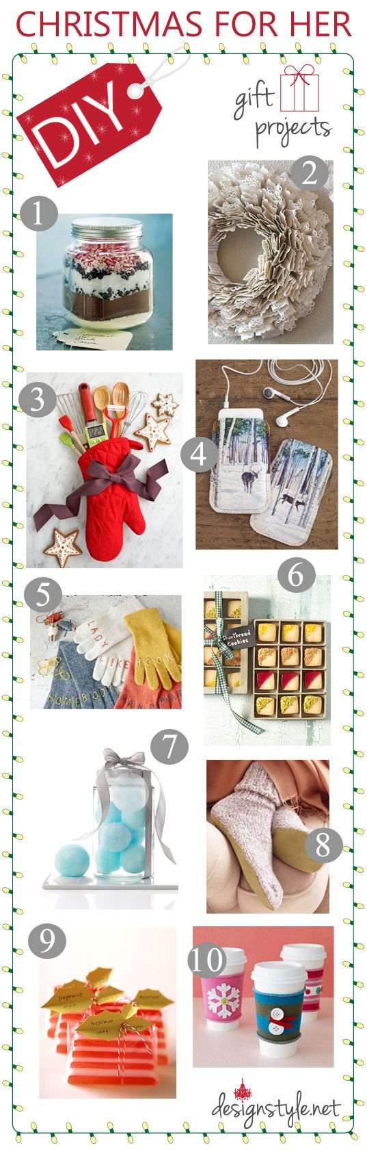 Diy Christmas Gift Ideas For Her Holidays Pinterest