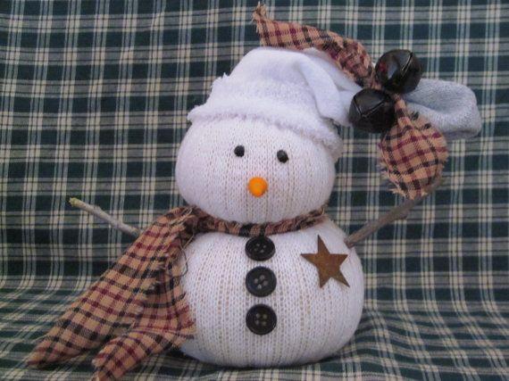 Primitive sock snowman diy christmas ideas pinterest