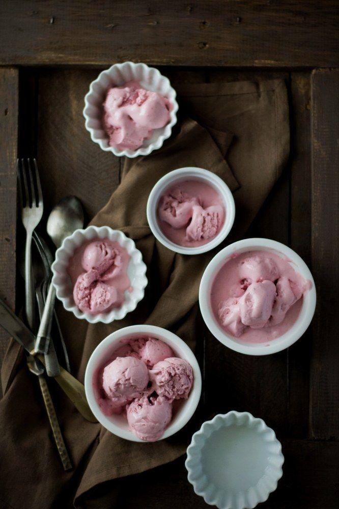 Roasted Strawberries & Buttermilk Ice Cream {Egg Free}