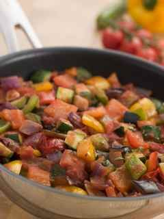 Ratatouille. I had the most amazing ratatouille in a French restaurant on the Dutch side of St. Maarten.  I need to make this!