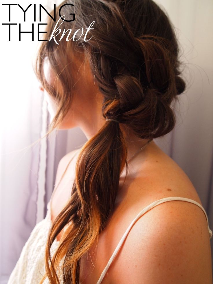 DIY Wedding Hairstyle: Tying The Knot | Hair Doooooossss | Pinterest