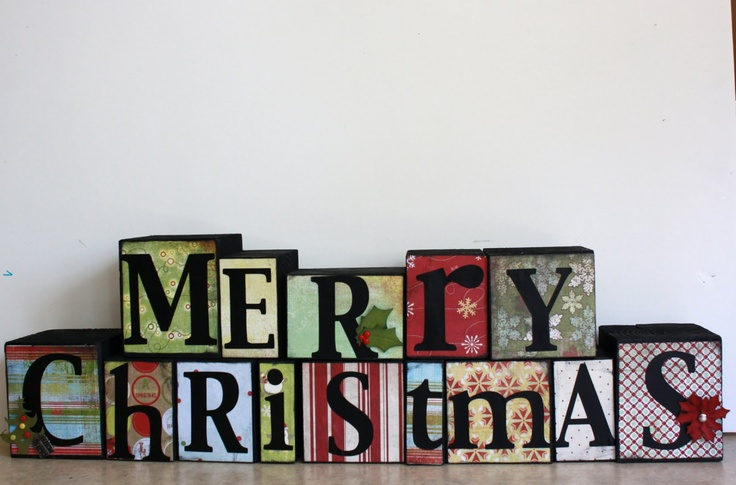 merry christmas block letters decorating ideas With merry christmas block letters